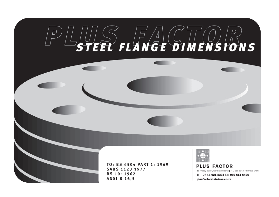 Stainless Steel Ansi Flanges Dimensions: Weld neck flanges