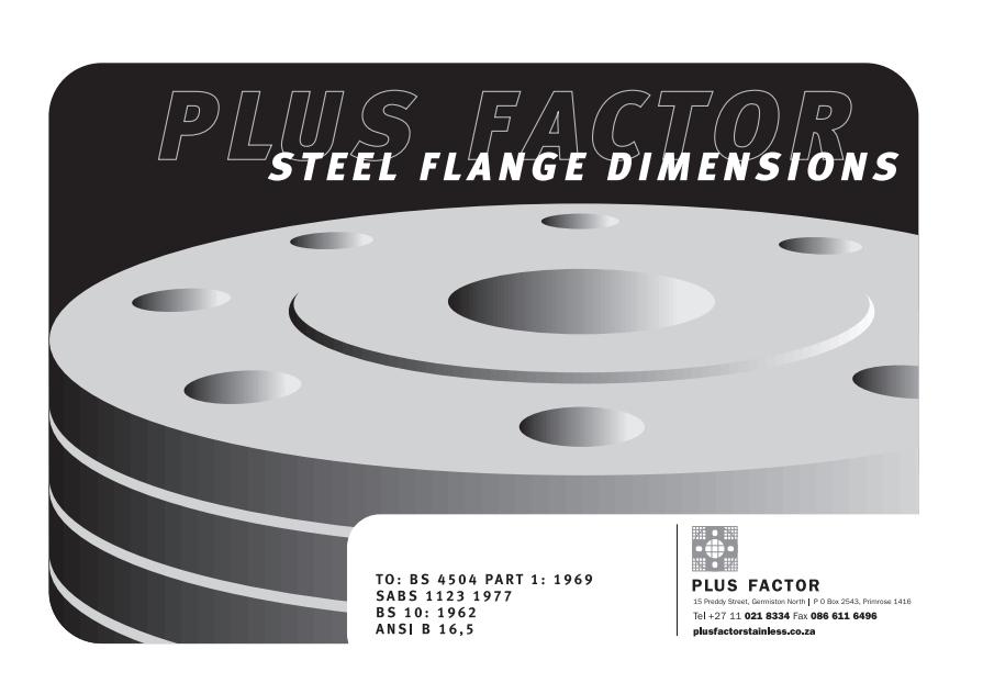 Steel Flange Dimensions PDF Download